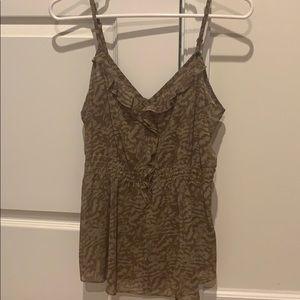 Tan zebra print blouse